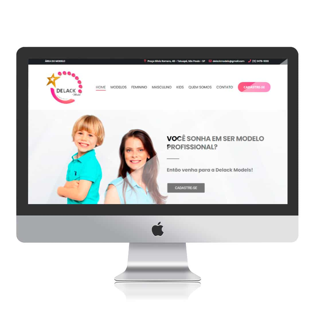 Website Delack Models por Clicsites