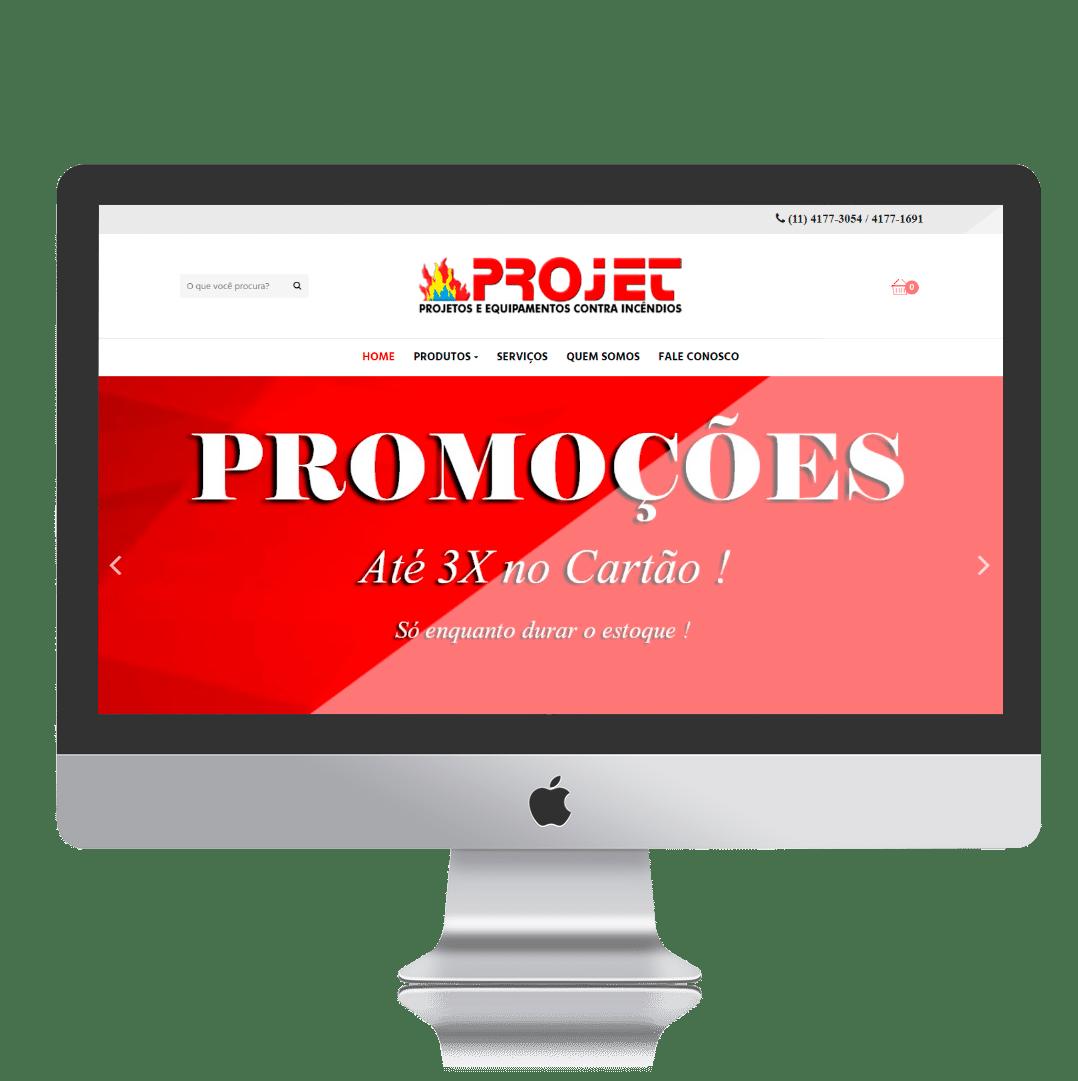Loja Virtual Projet Equipamentos por Clicsites
