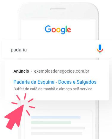 Campanha Google Ads por Clicsites