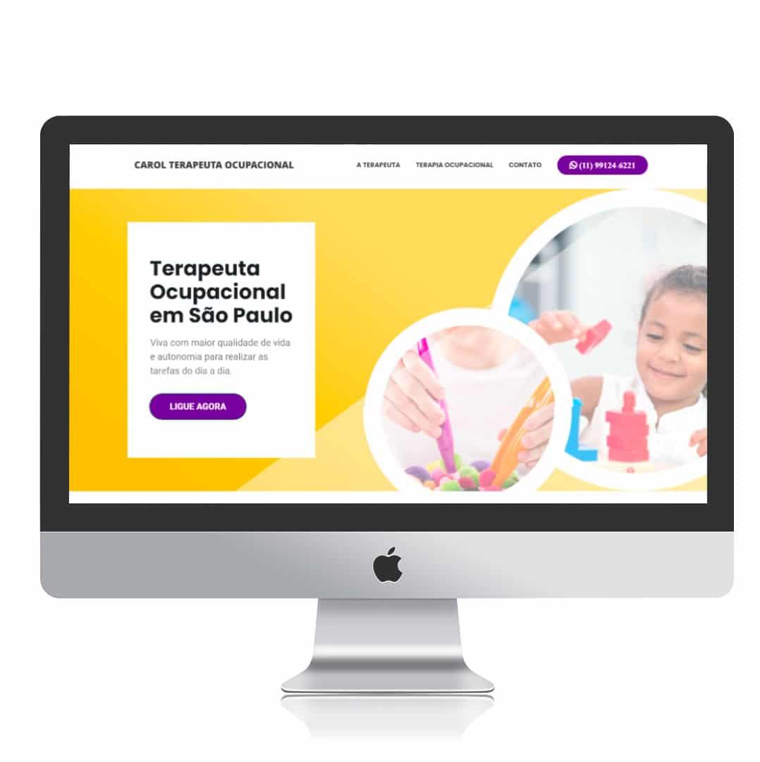Website Carol Terapeuta Ocupacional por Clicsites