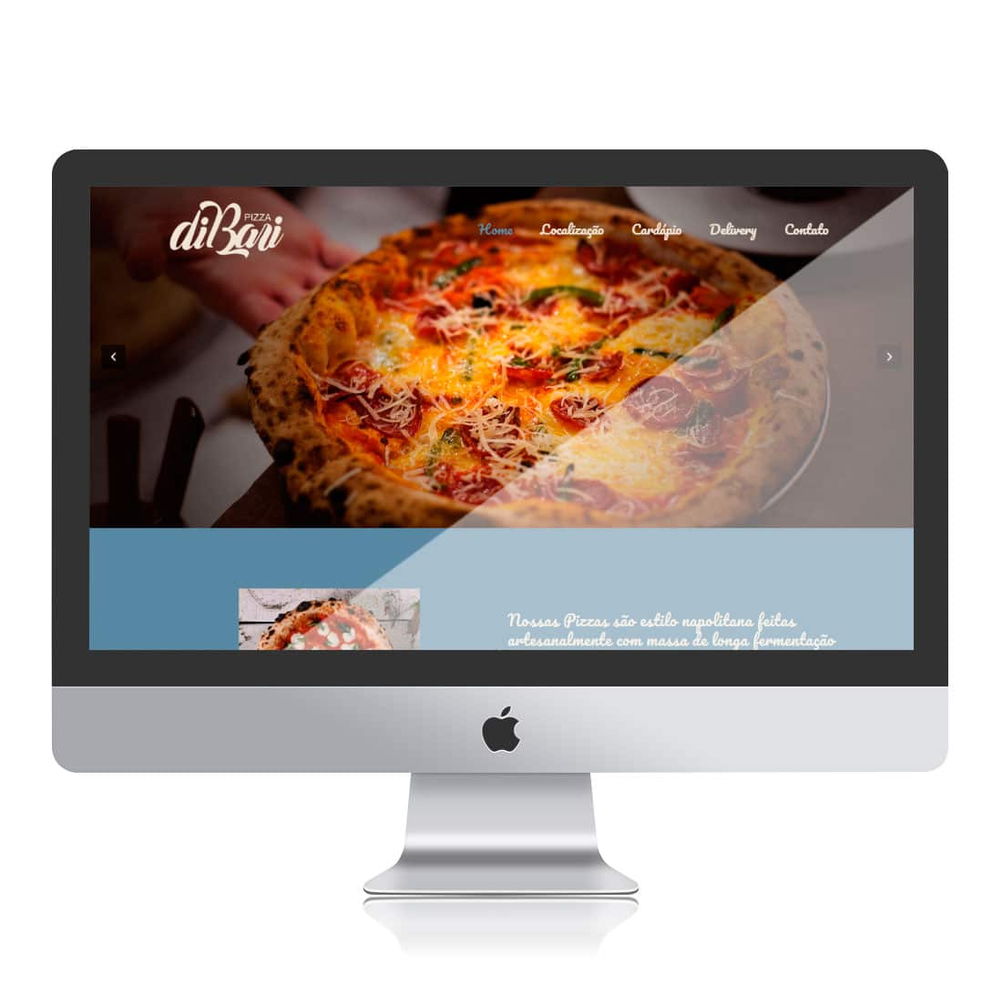 Website Di Bari Pizza por Clicsites