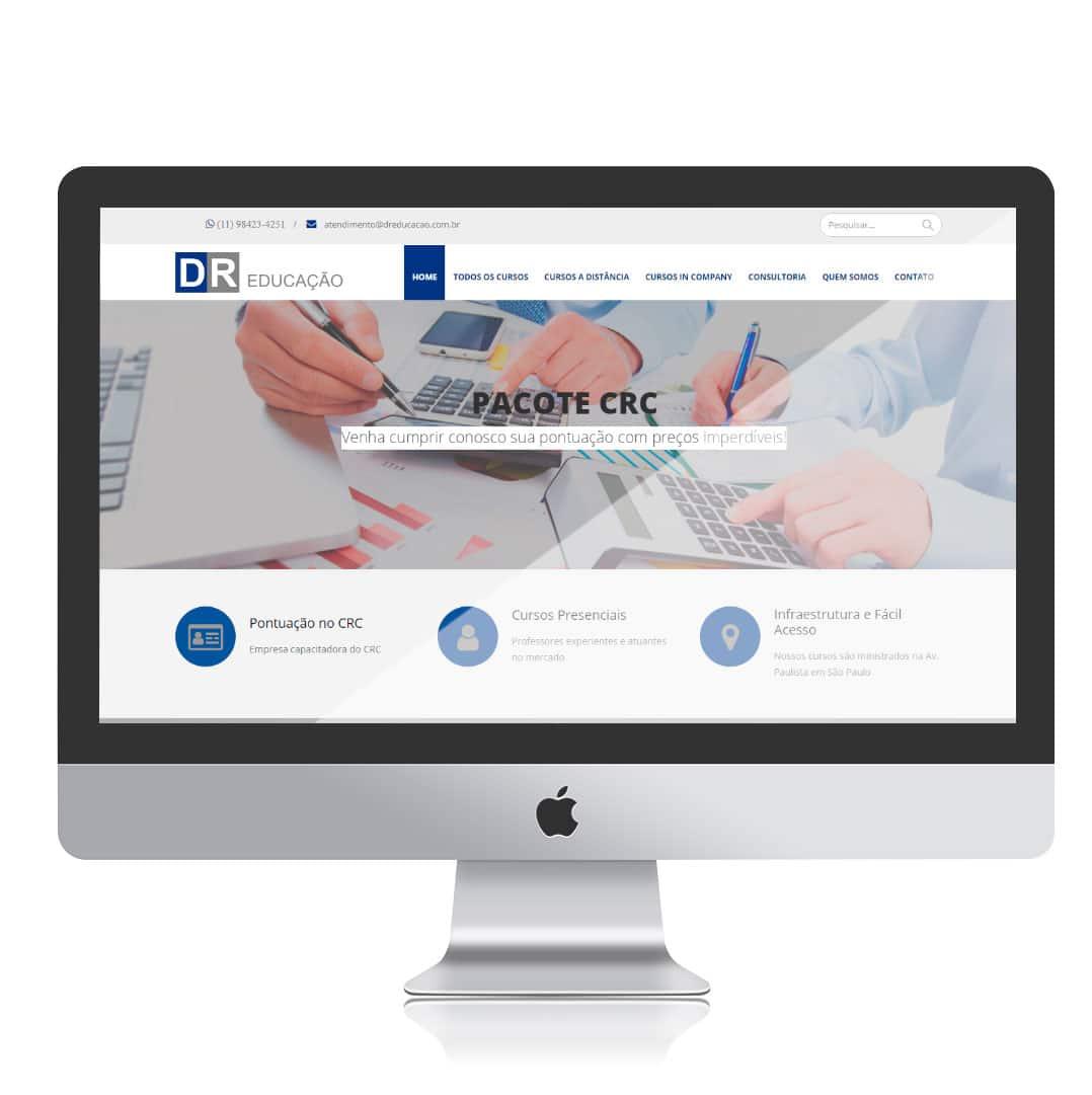 Website DR Educação por Clicsites