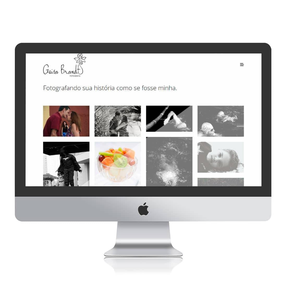 Website Geisa Brandt por Clicsites