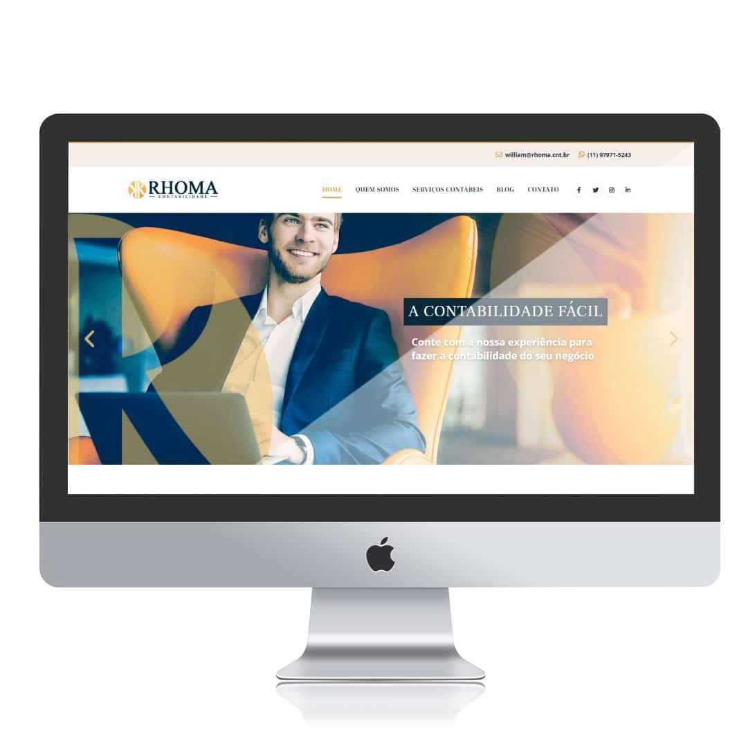 Website Rhoma Contabilidade por Clicsites
