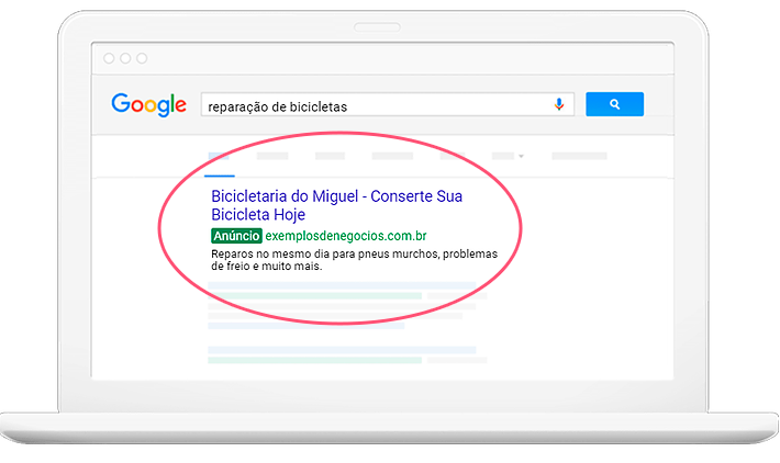 Campanha do Google Ads por Clicsites